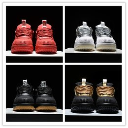 Wholesale Air LUNAR FORCE Low DUCKBOOT Silvery White Gold Black Red Outdoor Athletics Sneakers AA Best Quality Version Size US