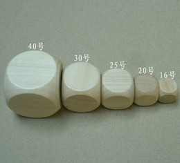 30mm Blank 6 Sided Dice Bosons Wooden Dice Special Purpose Dice DIY Processing Dice Small Gift Game Dice Good Price High Quality #B4