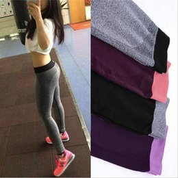 Wholesale In business Women Sport Leggings For Yoga Running Training Bodybuilding Fitness Clothing Fashion Gym Elastic Jegging Leggings