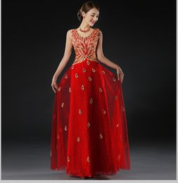 Evening Dresses Long 2016 Peacock Dress Women Embroidery Formal Evening Gowns Party Prom Dress Robe De Soiree