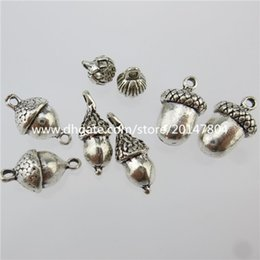 Wholesale Details about Antique Silver Tone Squirrel Favorite Food Acorn Nut Charm Connector
