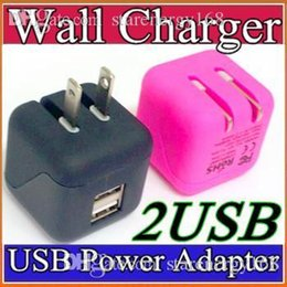 Wholesale Universal Big Type Foldable Folding USA Plug Dual USB Wall Charger Home AC Power Adapter Charging For iPhone G Plus iPad Samsung S6 W SC