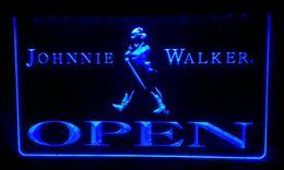 LS440-b Johnnie Walker OPEN Whiskey Bar Neon Light Sign