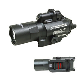 Tactical SF X400U Ultra LED Light Handgun Flashlight With Red Laser Black 500 lumens light mount 20mm rail black sand