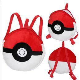 Wholesale Poke Pikachu Pets cartoon plush backpack school bag Cute cartoon red coal dust balls elves