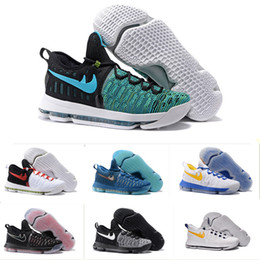 Wholesale 2016 Kd Basketball Shoes Sneakers Runing Kevins Kds VIIII Lowe Elite Blue Durant Men s Athletic Kd9 Sports Shoes US Size