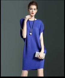 Wholesale In the summer of new women s European liberal code Mosaic Raglan short sleeved primer A linedress female