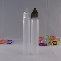Wholesale Quality Assurance ML PE Bottles Translucent Pen Shape PET Bottle E juice Plastic Needle Bottles Childproof Unicorn Bottles Twist Off Caps