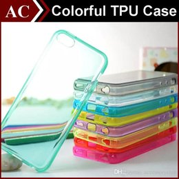 TPU Silicone Gel Case For iPhone 5S 6 6S Plus Galaxy S5 S6 S7 Edge Clear Transparent Smooth 1.2MM Shockproof Back Cover