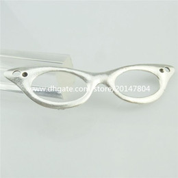 Wholesale 14445 Alloy Antique Silver Glasses Eyeglass Pendant Large Dangle Pendant