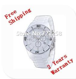Cerámica blanca reloj de pulsera en venta-Envío libre del hk _Absolute lujo nuevo AR1424 1424 hombres cronógrafo de cerámica blanca reloj de pulsera de señora Reloj