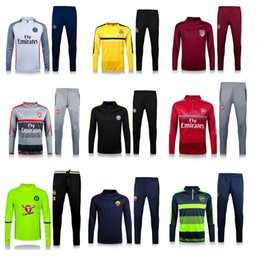 Wholesale 2016 new Arsenal Chelsea tracksuit top quality home away Training suit survetement ALEXIS OZIL HAZARD