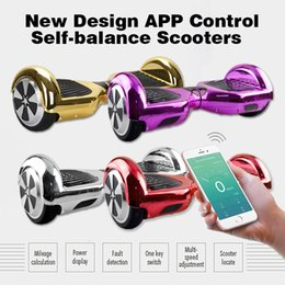 Wholesale Chrome Color Electric Scooter SUPPER POWER APP CONTROL Smart Self balancing Hoverboard NEW DESIGH ONE KEY SWITH Scooters Chrome colors