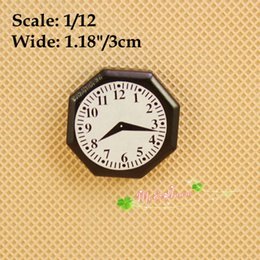 1:12 Scale Dollhouse Miniatures Black and White Wall Clock Doll House Accessory