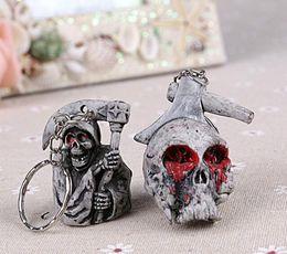 Wholesale Skull keychains Handbag Pendant Car Key Chain Skull Doll One piece series New Style FedEx Free