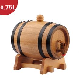Wholesale 0 L Oak Barrel Wine Barrel Liquor Storing Wine Bladder Bar Hotel sets Wooden Barrel Decoration Inner Tant Metal Faucet Fask Bucket J14