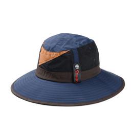 Wholesale Spring Summer Korea Bucket Hat Patchwork Hats Men Women Waterproof Outdoor Snapback UV Protection Quick Drying Visor Cap