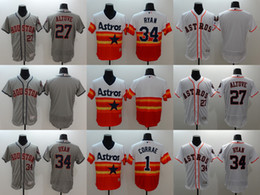 Wholesale Men s Elite Houston Astros Jose Altuve Nolan Ryan Carlos Correa Stitched Baseball Jerseys Free Drop Shipping