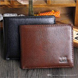 2016 Export New Fashion Men Bifold 2 Fold Black Coffee Color Optional Quality Pu Leather Designer Card Holder Purse Wallet Free Shipping