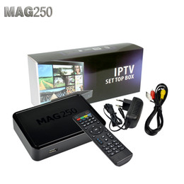 Wholesale Free DHL Mag250 Linux System IPTV Set Top Box Processor STi7105 RAM Mb Top Quality IPTV BOX MAG Like Mag