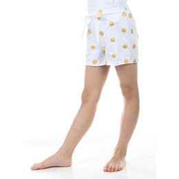 2016 new baby short White Gold Polka Dots summer girls short knit cotton toddler short with bow