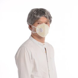 KANJEKANLE Medical Silver Fiber Mask with respiration valve Anti-fog dust Anti-influenza Resistant to pollution Old people use