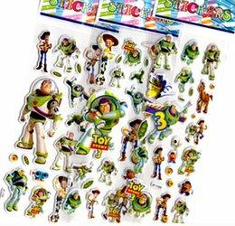Wholesale 10pcs toy woody buzz jessie D foam stickers party supplies decoration kids gift children toys boys fun girls