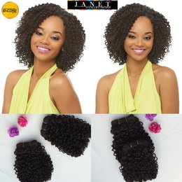 Wholesale Janet Collection Encore Jerry Curl Weaving Blended Hair Weave Human Hair Quality B quot quot Curly Extension