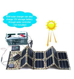 Wholesale 40W V Foldable and portable PVC waterproof fabric solar panel charger