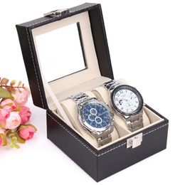 leather lovers watch box high grade watch storage boxes top quality watch display box jewelry bracelet 2 seat for luxury jewelry