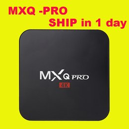 Wholesale MXQ Pro k Amlogic S905 Android TV Box Quad Core Android DDR3 G Nand Flash G HDMI WIFI p DHL OTH039