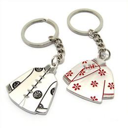 Acheter en ligne Assiettes en porcelaine pour-20pairs / Lot métal placage Chine traditionnelle Tang Suit amant Creative couple porte-clés porte-clés de mariage souvenir Cadeaux