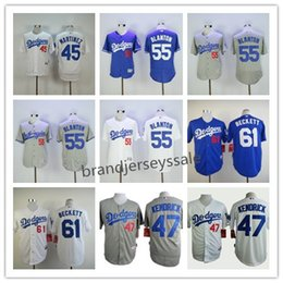 Wholesale Mens Los Angeles Dodgers Jerseys Pedro Martinez Howie Kendrick Joe Blanton Josh Beckett Throwback Baseball Jersey Stitched