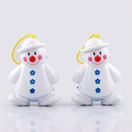 Wholesale 2pcs set New Lovely Snowman Wireless Baby Cry Detector Monitor Watcher Alarm alarm window alarm vibrating
