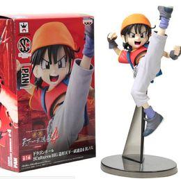 Wholesale 18CM Dragon ball Z Action Figure Sagas Super Saiyan Pan SonGoku Son Goku Radish Kakarotto PVC Action Figure Model in stock