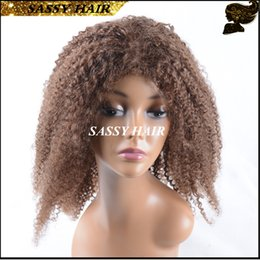 6A Afro Kinky Curly Short Human Hair Wigs Virgin African American Short Curly Wigs Glueless Full Lace Front Wigs For Black Women