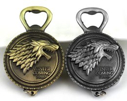 Game of Thrones Bottle Opener Keychain Wine Beer Openers Stark Badge Retro Bronze Color Party Supplies