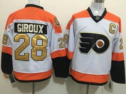 Wholesale Philadelphia Flyers Kids Jerseys CLAUDE GIROUX White Golden word th Ice Hockey Jerseys Name Number All Stitched Best Quality