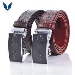 Wholesale Designed Man s genuine Leather High Quality Genuine Leather trap Alloy Automatic Buckle Bales Catch Fashion Casual Male Belt Cm Sale