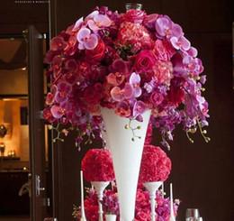 white mental flower stand floor decorative flower vases for event