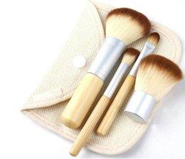 Wholesale Free DHL Makeup Brushes Set Kit Beautiful Professional Bamboo Elaborate make Up brush Tools With Case