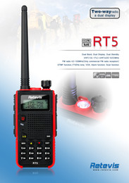 Wholesale Retevis RT5 Dual Band MHz Walkie Talkie W Channel Scan VOX DTMF FM Radio Hz Two Way Radio A9108A