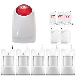 Wholesale hot products sensor max wireless independent home security alarm siren with pir motion detector