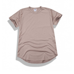Wholesale Cheap Men Summer Extended T Shirts Hip Hop Swag Kanye West Justin T Shirts Solid Casual Tee