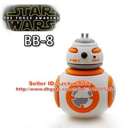 Wholesale USB Flash Drives New Arrival Star Wars BB Robot Cartoon USB Memory Stick PenDrives Real GB GB GB GB GB
