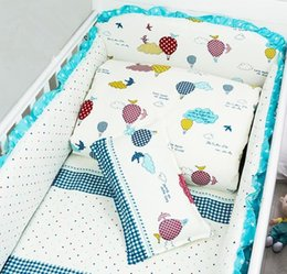 Wholesale Nordic Style Pattern Cotton Reactive Printing Baby Bumper Non fluorescent Agent Without Stimulation Baby Bedding Sets