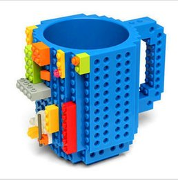 Wholesale Drinkware Building Blocks Mugs DIY Block Puzzle Mug oz Piece Build On Brick creative Mug Lego Type Coffee Cup HIGHT QUALITY