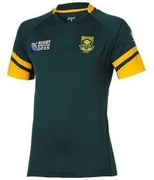 Wholesale 2015 Team south africa rugby jersey springboks shirt Word Cup football jerseys south africa rugby jersey