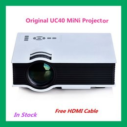 Wholesale Hot Sale UC40 Portable LED Projector Home Theater Multimedia Video Projector PC USB SD AV HDMI With Free HDMI Cable