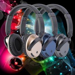 Wholesale Foldable Wireless Bluetooth V3 EDR Stereo Headset Headphones Mic For Mobile Phone for listening music chatting online